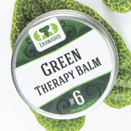 No. 6 Ya Mong Sarad Pang Pon (Cooling) Green Balm Small